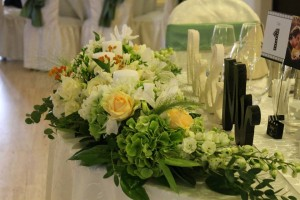 movie themede wedding floral design